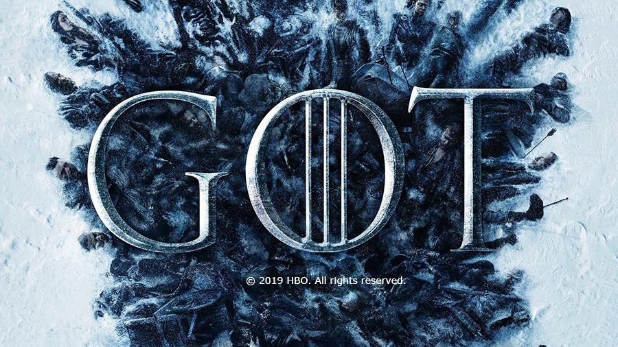 Game of Thrones Logo behind corpses of season 8